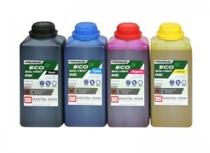 DSP Eco Solvent Ink for Mimaki Printers in a 1L Bottle