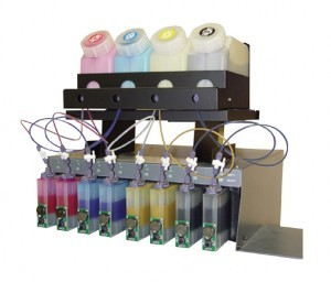 Mimaki/Mutoh/Roland Bottle-Based Bulk System with 12 Litres of DSP Eco-solvent Ink