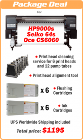 Solvent printer recovery deals for HP9000s, Seiko 64s, Seiko V64 and HP8000s